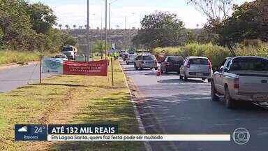 Lagoa Santa monitora entrada da cidade - Com aumento do movimento no fim de semana, prefeitura adota medidas mais restritivas