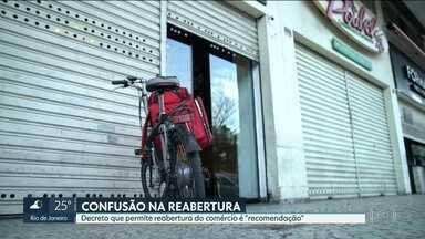 Na cidade do Rio, bares e shoppings ainda não podem reabrir - Apesar do decreto do Governo, Plano de Fases da Prefeitura ainda está valendo.