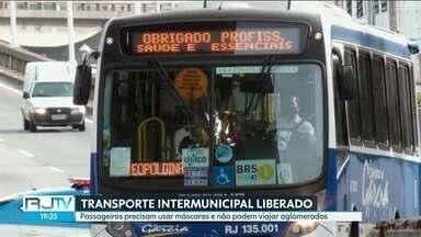 Decreto estadual libera transporte intermunicipal entrar no Rio. - Empresas precisam se adequar a normas de higiene e evitar aglomeração.