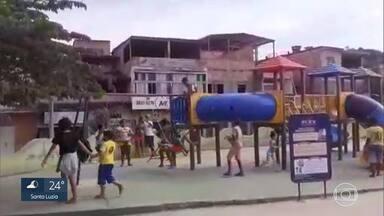 Parque é inaugurado em Santa Luzia em plena pandemia - A prefeitura decidiu inaugurar parques enquanto os números da Covid-19 aumentam.