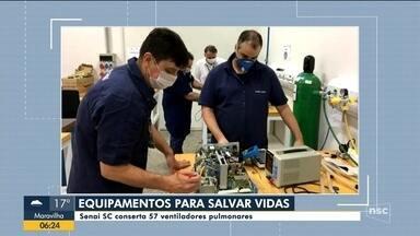 Senai de Joinville conserta 57 ventiladores pulmonares para tratamento em hospitais - Senai de Joinville conserta 57 ventiladores pulmonares para tratamento em hospitais