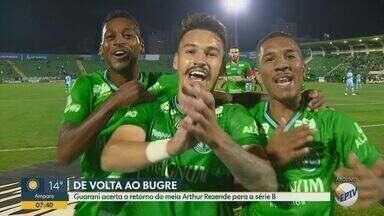 Arthur Rezende rescinde com o Bahia e acerta retorno ao Guarani - Meia tinha outras quatro propostas, mas decide voltar ao Brinco pela identificação com o clube.