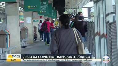 Veja como ficou o movimento na estação São Benedito nesta terça-feira - Aglomeração em estações e ônibus são desafio em tempos de pandemia.