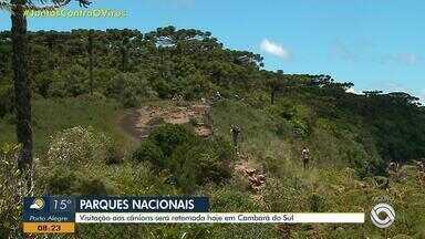 Parques nacionais de Cambará do Sul reabrem a partir desta terça-feira (9) - Locais podem funcionar com 40% da capacidade de visitação.