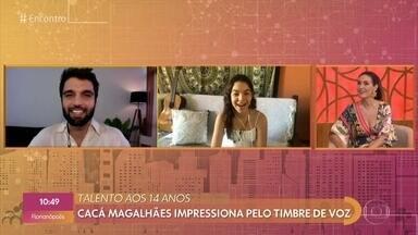 Silva já compôs mais de 30 músicas na quarentena - Cacá Magalhães impressiona pelo timbre de voz