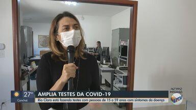 Prefeitura de Rio Claro amplia testagem de Covid-19 para pessoas de 15 a 59 anos - Medida é válida para população economicamente ativa e com sintomas da doença.