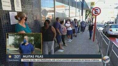 Aglomerações em bancos e lotéricas aumentam com flexibilização em São Carlos - Secretário de Segurança Pública orienta a população.