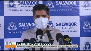 Prefeito ACM Neto anuncia chegada de respiradores e fala sobre taxa de ocupação de leitos - Cerca de 60 equipamentos chegaram à Salvador.