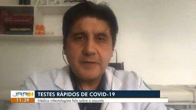 Testes rápidos de coronavírus podem apresentar resultado falso negativo,diz infectologista - O médico esclarece dúvidas sobre os meios de diagnóstico da covid-19.