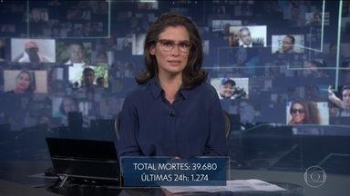 Ministério da Saúde registra 1.274 mortes em 24 horas - Segundo o governo, total de óbitos chega a 39.680 e total de casos é de 772.416.