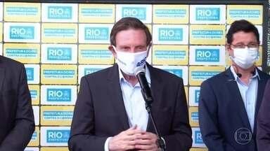 Prefeito do Rio anuncia que shoppings da cidade vão poder reabrir nesta quinta (11) - O horário de atendimento será menor, com uso obrigatório de máscaras e a medição de temperatura na entrada, entre outras restrições.