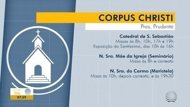 Católicos celebram o dia de Corpus Christi - Missas serão adaptadas devido à pandemia.