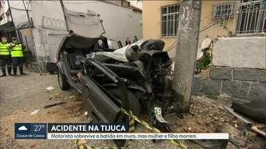 Feriado começa com acidentes com vítimas fatais no Rio de Janeiro - Um acidente na Tijuca mata mãe e filho de 6 anos e outro na Avenida Brasil deixa uma mulher morta