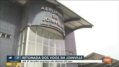 Companhias aéreas anunciam retomada das atividades no aeroporto de Joinville - Companhias aéreas anunciam retomada das atividades no aeroporto de Joinville