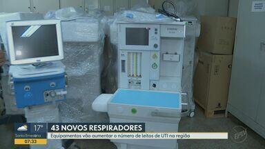 Região de Ribeirão Preto recebe respiradores para tratamentos da Covid-19 - No total são 33 novos equipamentos que serão distribuídos entre Ribeirão Preto, Serrana e Jaboticabal. Outras 10 unidades foram para Franca.