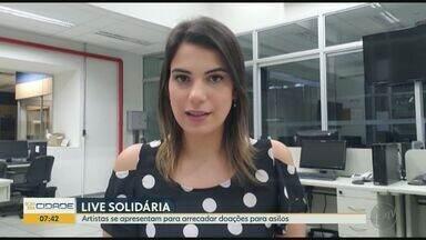 Artistas participam de live para arrecadar doações para os asilos em Ribeirão Preto, SP - Show virtual acontece no sábado (13) às 10h.