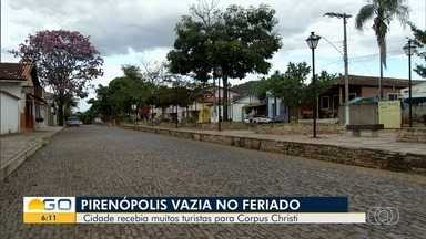 Pirenópolis fica vazia durante Corpus Christi e Dia dos Namorados - Cidade era um dos destinos mais procurado nesta época do ano, mas não pode receber turistas por causa da pandemia do coronavírus.
