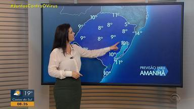 Sábado (13) é de chuva na maior parte do RS e tem queda nas temperaturas - Faixa Sul tem tempo firme.