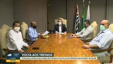 Guarani e Ponte esperam retorno das autoridades de saúde para testar jogadores - Jonas Donizette vai encaminhar protocolos médicos para análise da Secretaria de Saúde.
