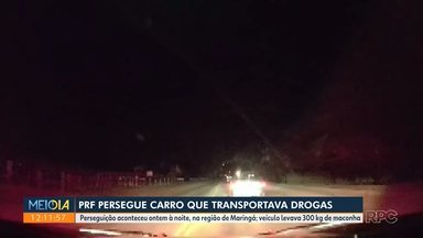 Polícia persegue carro com 300 quilos de maconha - A perseguição foi em Jandaia do Sul. Uma pessoa foi presa