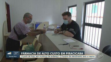 Farmácia de alto custo em Piracicaba muda de endereço nesta sexta-feira - O horário de atendimento ao público, para retirar medicamentos, permanecerá igual, de segunda a sexta-feira, das 8h às 16h.