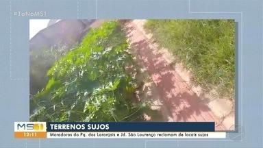 Moradoras do Jd. São Lourenço e Parque dos Laranjais reclamam de terrenos sujos - Semadur vai enviar equipes aos locais e você pode participar do comunitário enviando vídeos para o Cabral