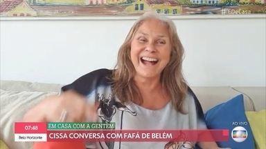 Fafá de Belém assumiu cabelos brancos durante a quarentena - Cantora bate papo com Cissa Guimarães no 'Em Casa com a Gentem' e canta 'Sob Medida'