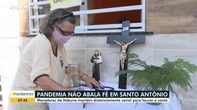 Igreja dedicada ao santo transmite as missas pela internet para os fiéis em Itabuna - Nesta sábado (13), é dia de homenagens a Santo Antônio.