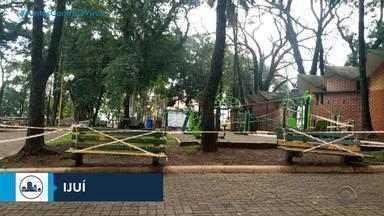 Três praças de Ijuí são interditadas pela prefeitura para evitar aglomerações - Executivo municipal alega que população estava descumprindo isolamento social nestes locais.