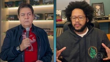Faustão bate um papo com Emicida no Domingão do Faustão - Emicida fala sobre racismo no brasil