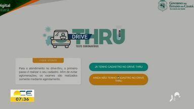 Começa a testagem em drive-thru no HGF - Saiba mais em: g1.com.br/ce
