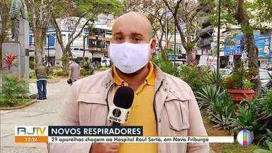 Nova Friburgo, RJ, recebe respiradores para ajudar no combate ao novo coronavírus - Segundo o município, ao todo, 29 aparelhos foram comprados.