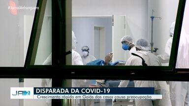 Goiás registra mais de 8 mil casos confirmados de coronavírus em 30 dias - Especialistas alertam que se os números continuarem subindo, a rede de saúde vai entrar em colapso.