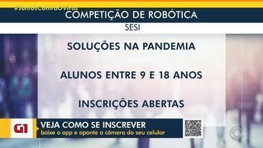 Desafio virtual do Sesi engaja alunos na busca por redução dos impactos da Covid-19 - Competição robótica vai selecionar projetos em todo o Brasil com propostas para a atual situação do planeta. Inscrições vão até o dia 30 de junho. Estudantes entre nove e 18 anos podem participar.