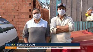 Novo retrato social na pandemia - Pandemia faz aumentar pobreza dos mais necessitados. Nos CRAS da Capital do Paraná o número de pedidos de ajuda aumentou em 300%
