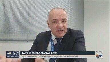 Superintendente da Caixa esclarece principais dúvidas sobre saque do FGTS - Carlos José Veiga é o entrevistado