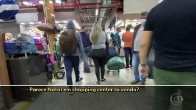 Muitos lojistas desrespeitam determinações do governo, no Brás - Na manhã desta terça (16), muitas lojas não tinham controle de acesso.
