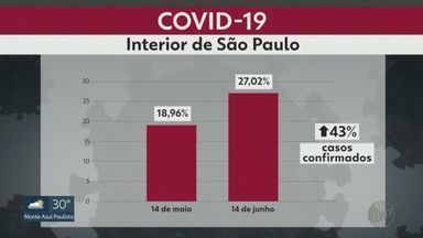 579 municípios paulistas têm pacientes com o novo coronavírus - No mês passado, o interior representava 19% dos casos no estado. Agora, o número saltou para 27%.