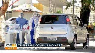 Testes para covid-19 esgotam no Hospital Geral de Fortaleza - Saiba mais no g1.com.br/ce