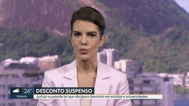 Justiça do Rio suspende lei que obrigava desconto em escolas e universidades - A decisão atendeu ao pedido do sindicato dos estabelecimentos de ensino do Rio.