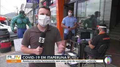 Após liberação, academias voltam a funcionar em Itaperuna, no RJ - Cidade tem 420 casos e 11 mortes por Covid-19.