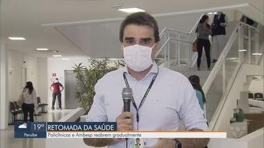 Consultas na rede municipal de saúde são retomadas em Santos - Depois de meses suspensas, consultas voltam com algumas restrições.