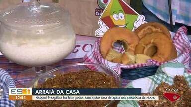 Hospital Evangélico faz festa junina para ajudar casa de apoio a pessoas com câncer, no ES - Veja a reportagem.