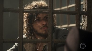 Joaquim lamenta ter caído na armadilha de Thomas - Ele diz que Elvira é a única pessoa que poderia desmascarar Thomas e confessa temer ficar preso para sempre