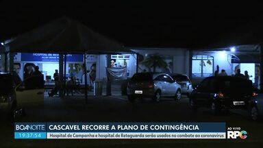 Hospital de campanha vai começar a funcionar em Cascavel - O atendimento será exclusivo para casos de Covid-19.