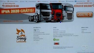 Site de leilão virtual usa nome de empresa de Sorocaba para aplicar golpes - Um site de leilão virtual de caminhões está utilizando o nome de uma empresa de Sorocaba (SP) para aplicar golpes. Moradores de todo o país já foram vítimas dos estelionatários.