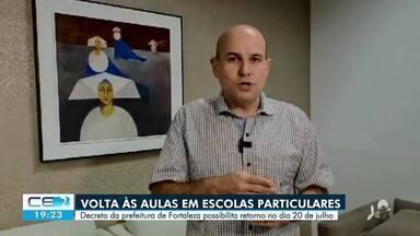 Antecipada a retomada de aulas presenciais nas escolas particulares de Fortaleza - Saiba mais em g1.com.br/ce