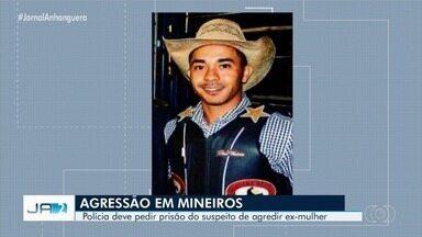 Homem que agrediu a ex-mulher se apresenta à polícia em Mineiros - O irmão da vítima tentou impedir as agressões, mas foi ameaçado pelo suspeito.