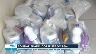 Solidariedade: confira quadro que mostra boas atitudes durante a pandemia - Assista reportagem.