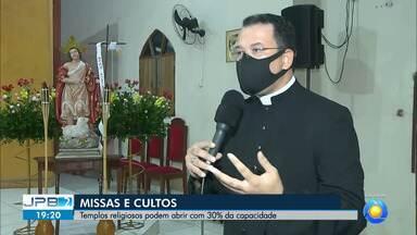 Templos religiosos podem abrir com 30% da capacidade - Arquidiocese da Paraíba decretou retomada gradual de atividades.